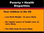 poverty health disparities