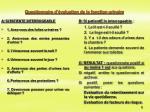questionnaire d valuation de la fonction urinaire