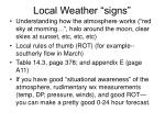 local weather signs