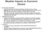 weather impacts on economic sectors