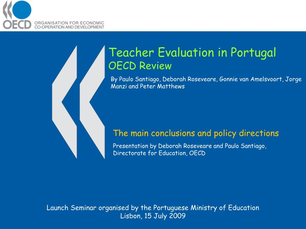 teacher evaluation in portugal oecd review