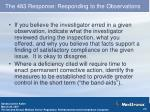 the 483 response responding to the observations2