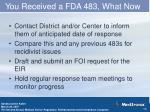 you received a fda 483 what now2