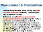 procurement construction