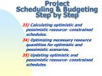 project scheduling budgeting step by step10