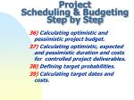 project scheduling budgeting step by step11