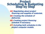project scheduling budgeting step by step13