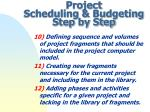 project scheduling budgeting step by step3