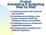 project scheduling budgeting step by step4