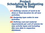 project scheduling budgeting step by step5