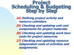 project scheduling budgeting step by step7