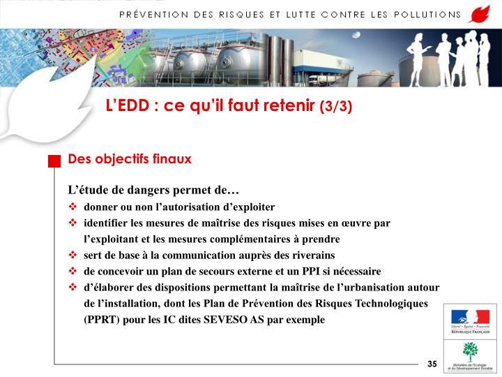 L'EDD : ce qu'il faut retenir