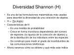 diversidad shannon h