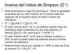 inverso del ndice de simpson d 1