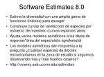 software estimates 8 0