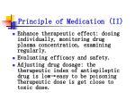 principle of medication ii