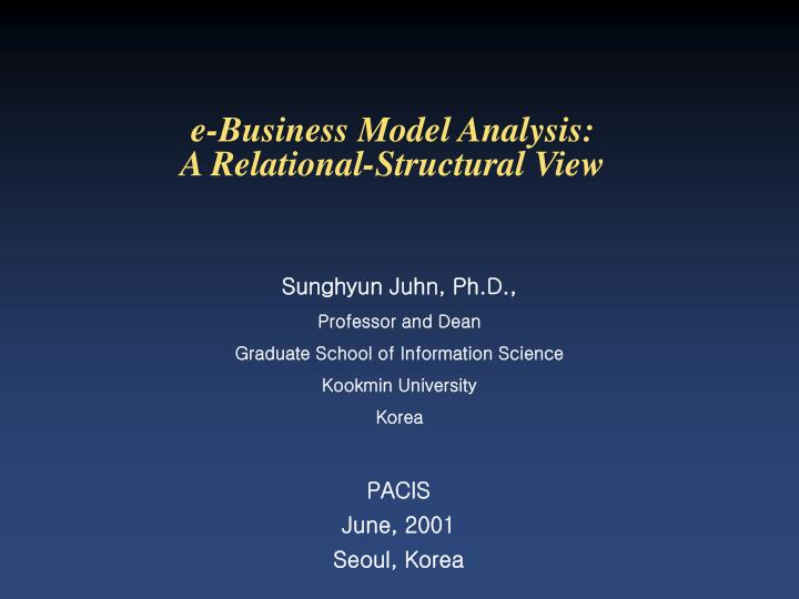 e business model analysis a relational structural view n.