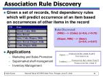 association rule discovery