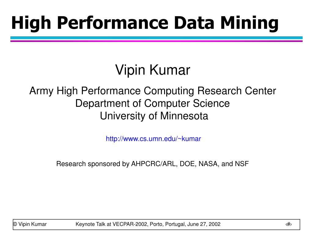 high performance data mining l.