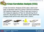cross correlation analysis cca