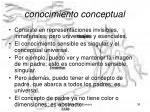 conocimiento conceptual