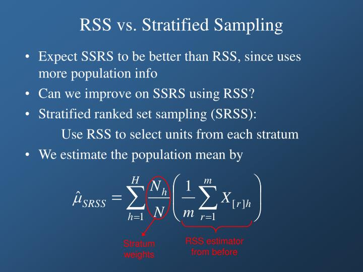 RSS estimator from before