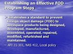 establishing an effective fod program steps1