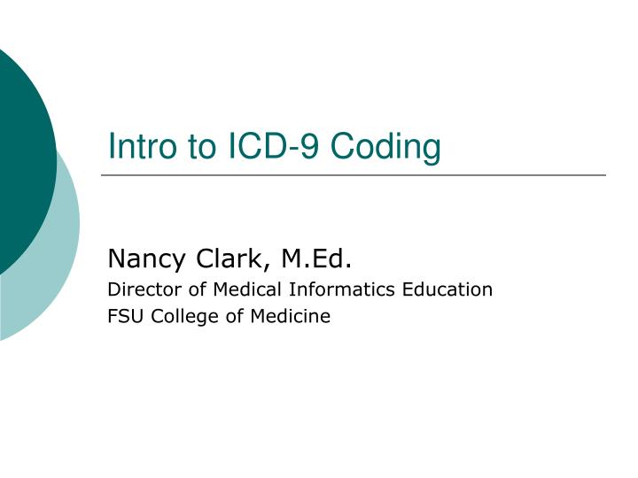 intro to icd 9 coding n.