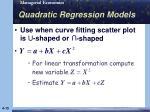 quadratic regression models