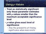 using p values