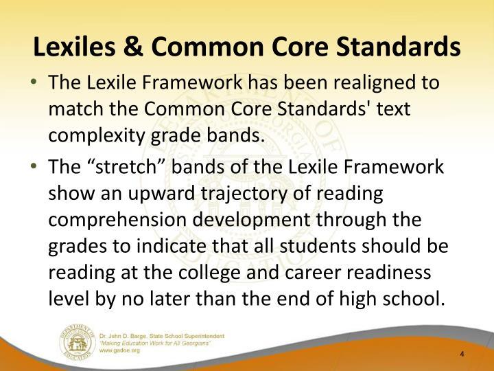 Lexiles & Common Core Standards