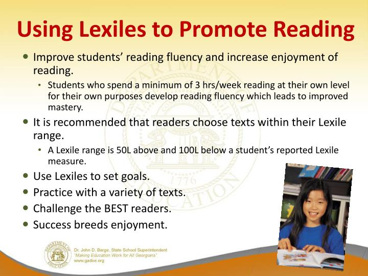 Using Lexiles to Promote Reading