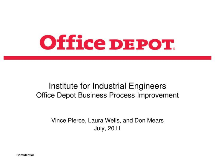 institute for industrial engineers office depot business process improvement n.