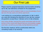 our first lab