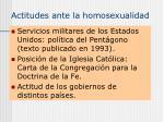 actitudes ante la homosexualidad