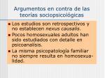 argumentos en contra de las teor as sociopsicol gicas
