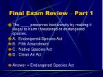 final exam review part 112