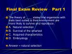 final exam review part 131