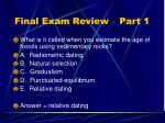 final exam review part 150