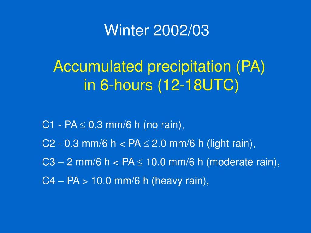 Winter 2002/03