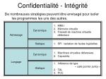 confidentialit int grit
