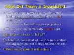 na ve set theory is inconsistent