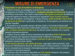 misure di emergenza