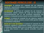 sostanze pericolose iii