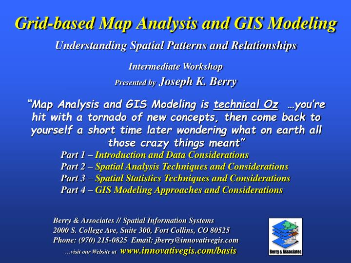 PPT - Grid-based Map Analysis and GIS Modeling Understanding