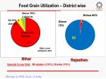 food grain utilization district wise