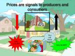 prices are signals to producers and consumers