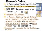 europe s policy
