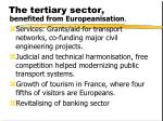 the tertiary sector