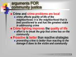 arguments for community justice